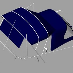 Dufour 38 redesigned Sprayhood recover, Bimini and connection panel_1