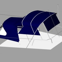 Dufour 38 redesigned Sprayhood recover, Bimini and connection panel_2