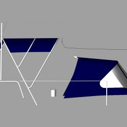 Dufour 38 redesigned Sprayhood recover, Bimini and connection panel_4