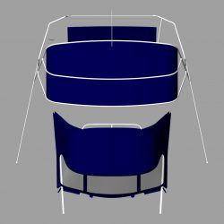 Dufour 38 redesigned Sprayhood recover, Bimini and connection panel_6