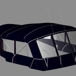 Jeanneau Sun Odyssey 49 Bimini conversion to factory supplied Bimini_5