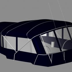 Jeanneau Sun Odyssey 49 Bimini conversion to factory supplied Bimini_6