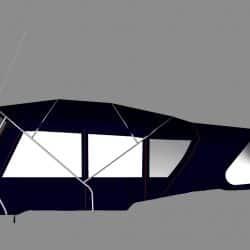 Jeanneau Sun Odyssey 49 Bimini conversion to factory supplied Bimini_11