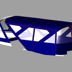 Sealine T50 Flybridge Bimini and Bimini Conversion_6
