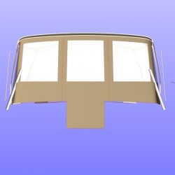 Allures 45 Bimini Conversion fitted to factory fit Bimini and Sprayhood_3