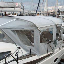 Elan 434 Bimini Conversion with Tecsew Bimini and Sprayhood_5