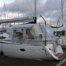 Elan 434 Bimini Conversion with Tecsew Bimini and Sprayhood_9