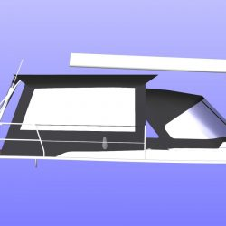 Hanse 455 Basic Bimini Conversion_5