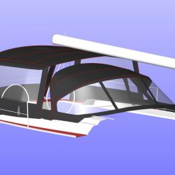 Hanse 455 Basic Bimini Conversion_6