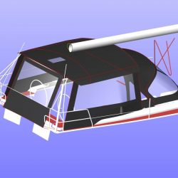 Hanse 455 Basic Bimini Conversion_7