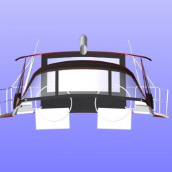 Hanse 455 Basic Bimini Conversion_9