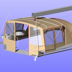 Hanse 575 Bimini Conversion to narrow standard Bimini_11