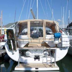 Hanse 575 Bimini Conversion to narrow standard Bimini_1