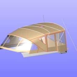 Hanse 575 Bimini Conversion to narrow standard Bimini_10