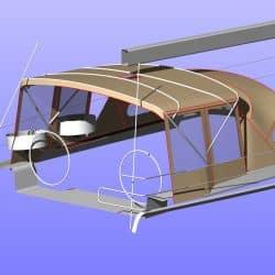 Hanse 575 Bimini Conversion to narrow standard Bimini_12
