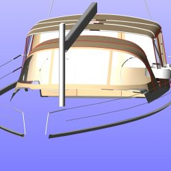 Hanse 575 Bimini Conversion to narrow standard Bimini_13