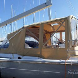 Hanse 575 Bimini Conversion to narrow standard Bimini_4