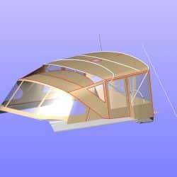 Hanse 575 Bimini Conversion to narrow standard Bimini_15