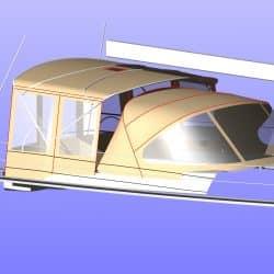 Hanse 575 Bimini Conversion to narrow standard Bimini_8