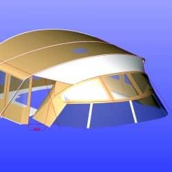 Westerly 49 Bimini Conversion_10