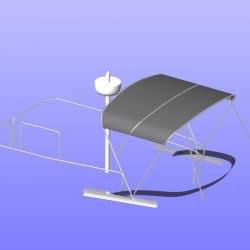 Beneteau Swift Trawler ST 30, Flybridge Bimini_10