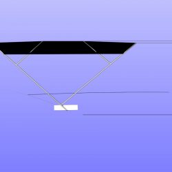 BMB 420 Virtess 420 Flybridge Bimini, approximate height