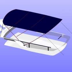 Fairline Squadron 42 Flybridge Bimini_15