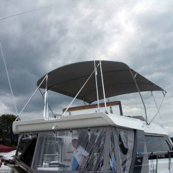 Sealine F42 Flybridge Bimini, note supplied with wire strops,not straps_1