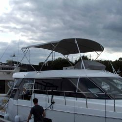 Sealine F42 Flybridge Bimini, note supplied with wire strops,not straps_2