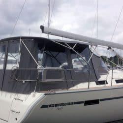 Bavaria Cruiser 51 Bimini shown with optional Bimini Conversion
