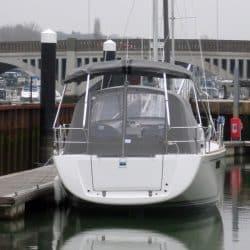 Bavaria Vision 42 Bimini shown with Cockpit Enclosure_10