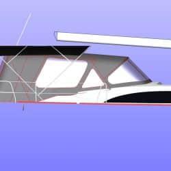 Bavaria Vision 42 Bimini shown with Cockpit Enclosure_19