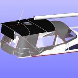 Bavaria Vision 42 Bimini shown with Cockpit Enclosure_20