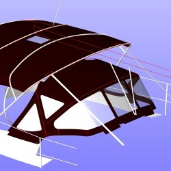 Beneteau Oceanis 361, 4 bar bimini extended aft of backstays_10