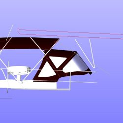 Beneteau Oceanis 361, 4 bar bimini extended aft of backstays_13