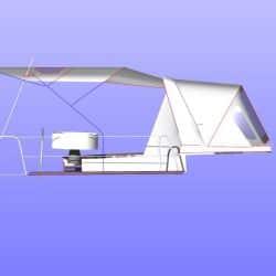 Beneteau Oceanis 38 Bimini, shown with optional Tecsew Sprayhood_14