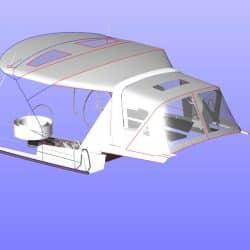 Beneteau Oceanis 38 Bimini, shown with optional Tecsew Sprayhood_15