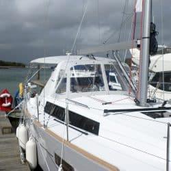 Beneteau Oceanis 38 Bimini, shown with optional Tecsew Sprayhood_3