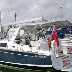 The same Bimini fitted to an Oceanis 38.1