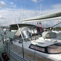 Beneteau Oceanis 390 Bimini, SAIL RECUT TO RAISE BOOM_1