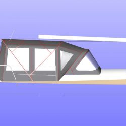 Approximate height from cockpit floor, Shown with optional Bimini Conversion