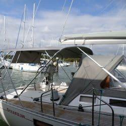 Beneteau Oceanis 390 Bimini, SAIL RECUT TO RAISE BOOM_2