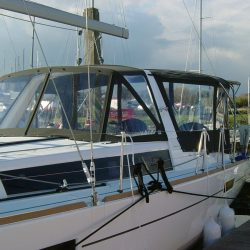 Beneteau Oceanis 45 Bimini shown with optional Bimini Conversion_1