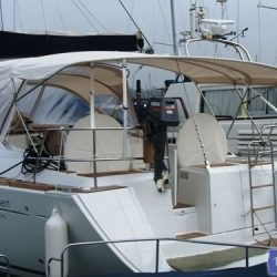 Beneteau Oceanis 46 bimini with optional zipped aft extension_10