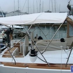 Beneteau Oceanis 46 bimini with optional zipped aft extension_9