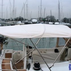 Beneteau Oceanis 46 bimini with optional zipped aft extension_7