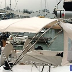 Beneteau Oceanis 46 bimini with optional zipped aft extension_6