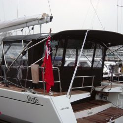 Beneteau Sense 43 Bimini, with Optional Bimini Conversion_2