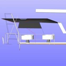 Beneteau Sense 46 Bimini shown with optional side shade panel_18