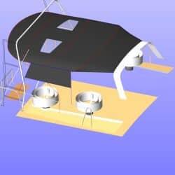 Beneteau Sense 46 Bimini shown with optional side shade panel_19